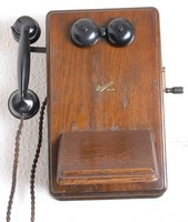 Image of ERICSSON LOCAL BATTERY  WALL TELEPHONE, 1940's