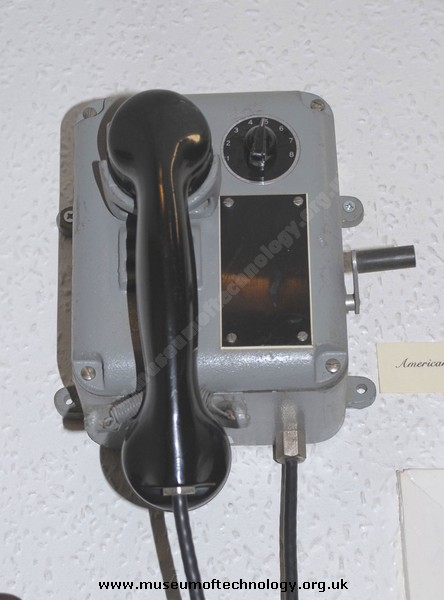 AMERICAN SHIPS WALL TELEPHONE, 1940's