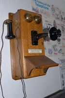 Image of WESTERN ELECTRIC WALL TELEPHONE, 1940's