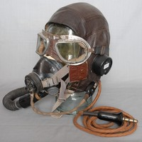 Image of WWII FLYING MASK TYPE  'E' HELMET TYPE 'C'
