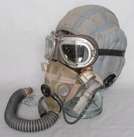 Image of FLYING MASK 'H'  'G' HELMET AND GOGGLES, 1950's