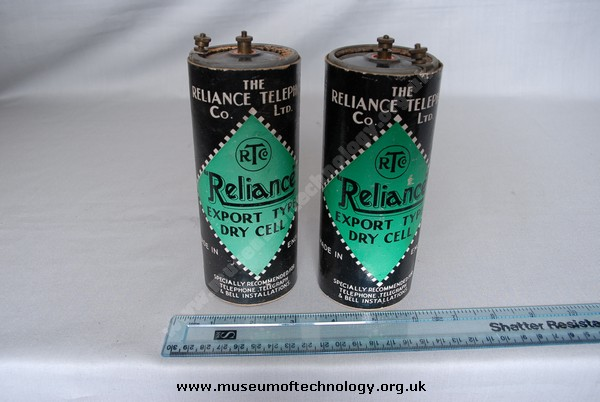 RELIANCE EXPORT DRY CELL (battery), 1930's