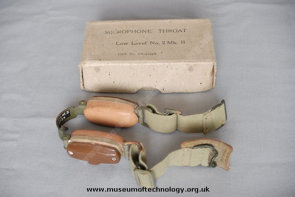 WWII THROAT MICROPHONE No2 MK2