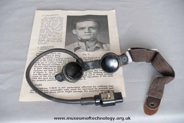WWII THROAT MICROPHONE T-30-R