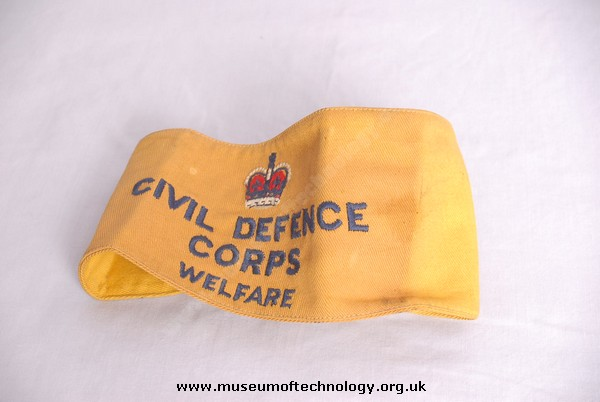 CIVIL DEFENCE CORPS ARM BAND WELFARE BRANCH, 1949