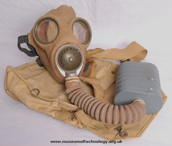 WWII  BOX SERVICE RESPIRATOR OR GAS MASK, 1938