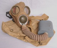Image of WWII  BOX SERVICE RESPIRATOR OR GAS MASK, 1938