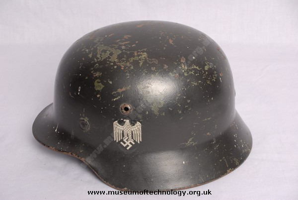 WWII GERMAN 'COAL BUCKET' HELMET, 1935