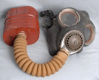 Image of WWII SERVICE BOX RESPIRATOR OR GAS MASK No 4 Mk 2