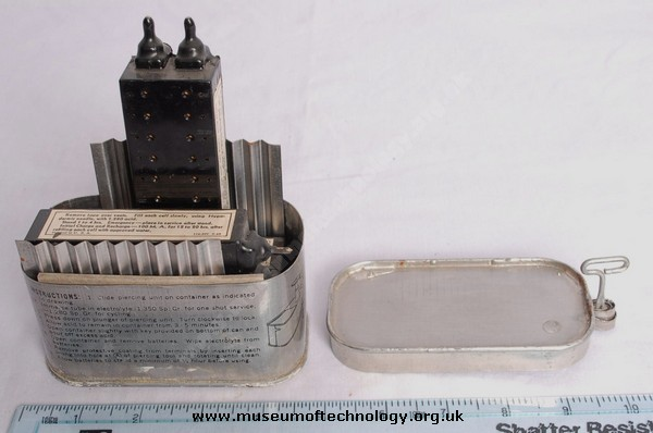 WWII BATTERIES IN TIN