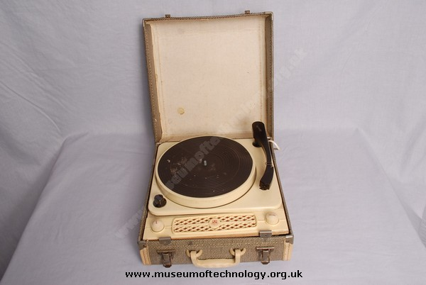 REGENTONE RECORD PLAYER IN FIBRE CASE, 1960's