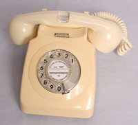 Image of GPO IVORY 746 TELEPHONE WITH NEON HANDSET No7, 1970's