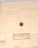 Image of TRANSATLANTIC CABLE IN PENDANT  AND LETTER, 1866