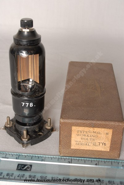 OSRAM CMG8 PHOTO CELL VALVE, 1920's