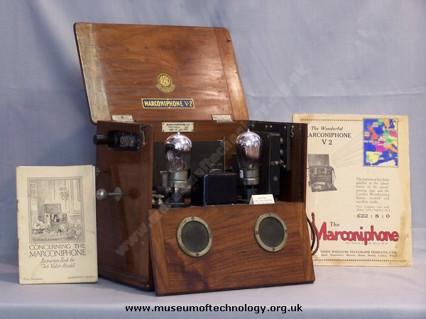 MARCONI WIRELESS TELEGRAPH COMPANY'S RADIO, V2 MODEL, 1922