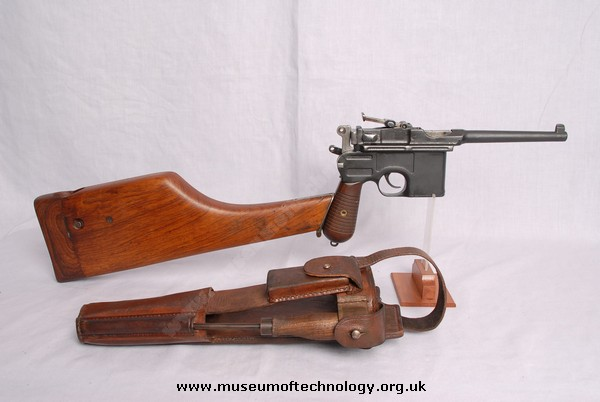 WWII MAUSER C96 WITH STOCK AND LEATHER HOLSTER