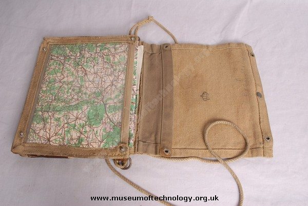 WWII  Swedish ARMY MAP CASE, 1940's