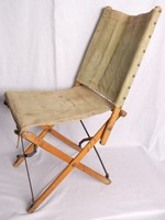 Image of WWII CANVAS FOLDING  CHAIR
