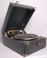 Image of COLUMBIA PORTABLE GRAMOPHONE, 1940's