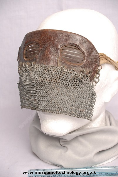WW1 SPLATTER OR TANK CHAIN MAIL MASK