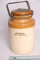 Image of WWII ANTI GAS OINTMENT JAR, 1943