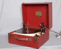 Image of PLUS-a-GRAM JUNIOR MPA PORTABLE RECORD PLAYER, 1950's