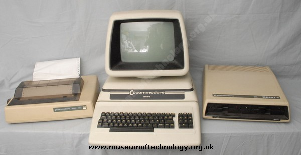 COMMODORE PET 8296 DISK DRIVE AND PRINTER, 1984