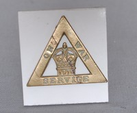 Image of WW1 ON WAR SERVICE  BADGE, 1916