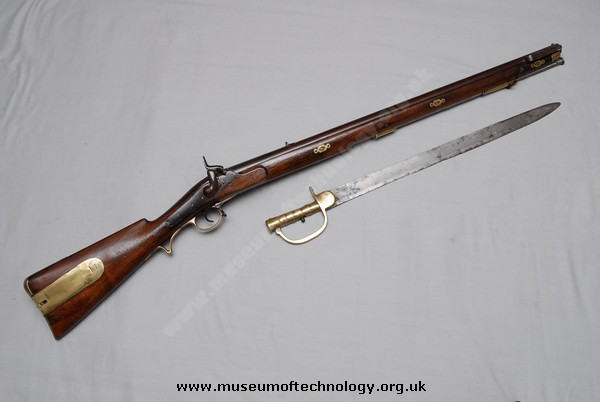 BRITISH BRUNSWICK TWO GROOVE RIFLE/MUSKET, 1830's