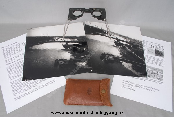 WW11 STEREOSCOPE AND PHOTOS, 1944