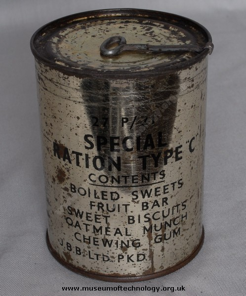 WWII RATION TIN TYPE 'C'