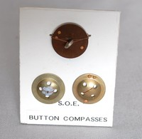 Image of WWII BUTTON COMPASS