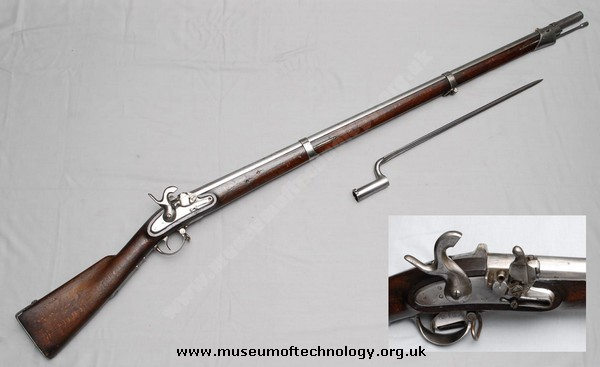 AUGUSTIN  TUBE OR PILL LOCK RIFLE/MUSKET, 1844
