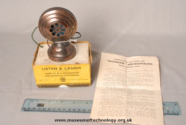 LISTEN AND LAUGH MICROPHONE, 1930's