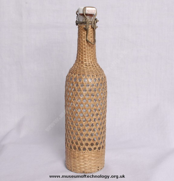 WWII GLASS BOTTLE MADE IN DRESDEN