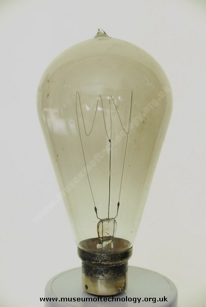 CARBON FILAMENT LIGHT BULB, 1900's