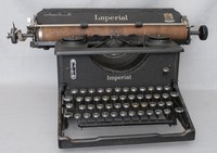 Image of IMPERIAL MODEL 58 TYPEWRITER, 1940's