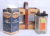 Image of EXIDE ACCUMULATOR EVER READY BOX AND CARRYING CASE, 1940's