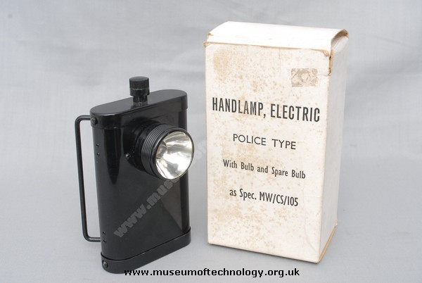 POLICEMANS HAND/BELT LAMP, 1950's
