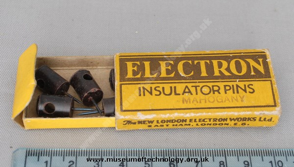 ELECTRON INSULATOR PINS, 1940's