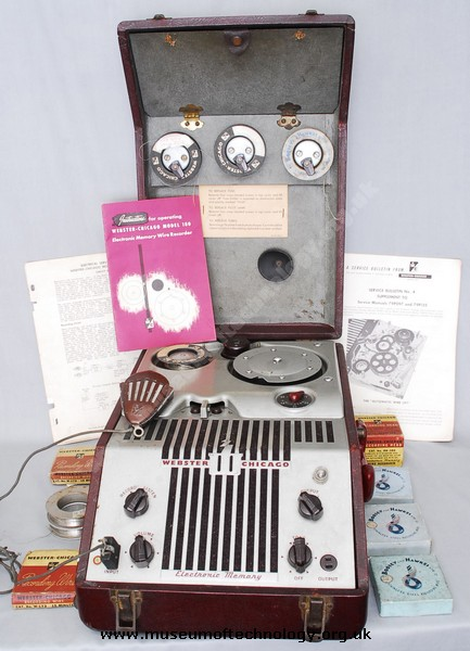 WEBSTER CHICAGO WIRE RECORDER MODEL 180-1 of 1949