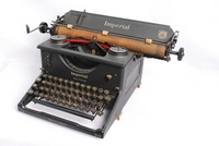 Image of IMPERIAL TYPEWRITER WITH WAR FINISH 1940's