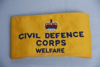 Image of WWII CIVIL DEFENCE ARM BAND