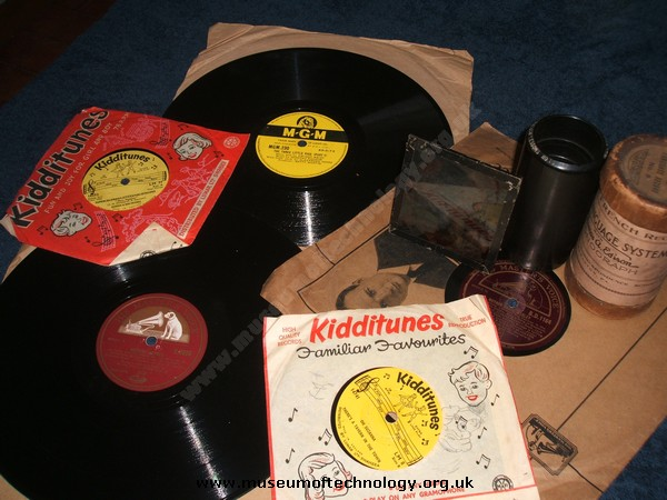 78rpm RECORDS FOR USE ON THE NURSERY GRAMOPHONE, 1950's